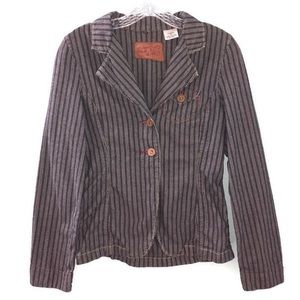 Levi's Vintage Denim Pinstripe Blazer Jacket